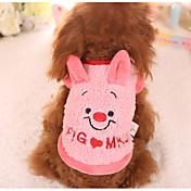 犬 スウェットシャツ 犬用ウェア カジュアル/普段着 カートゥーン柄 ピンク