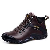 Hombre Zapatos Semicuero Cuero Primavera Otoño Confort Zapatillas de deporte Combinación Para Casual Negro Marrón Claro Morrón Oscuro