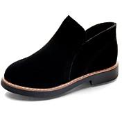 レディース 靴 ラバー 秋 コンバットブーツ ブーツ ローヒール ラウンドトウ 用途 ブラック カーキ色