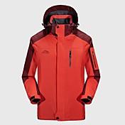 Hombre Chaqueta para senderismo Al aire libre Invierno Resistente al Viento Resistente a la lluvia Listo para vestir Transpirabilidad