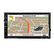 車のラジオのオーディオ2ディン6.95インチの液晶タッチスクリーンビデオカーDVDプレーヤーのGPSナビゲーションブルートゥース