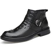 Hombre Zapatos Cuero de Napa Invierno Otoño Botas de Combate Botas hasta el Tobillo Botas de Moda Botas Botines/Hasta el Tobillo Con