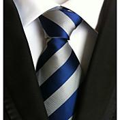 Hombre Todas las Temporadas A Rayas Corbata,Rayas Azul Piscina