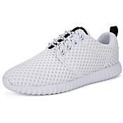Hombre Zapatos PU Primavera Otoño Confort Zapatillas de Atletismo Paseo Para Casual Blanco Negro
