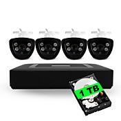 4ch 5-en-1 kits incorporados del dvd del hdd de 1tb 4pcs impermeabilizan el sistema de seguridad de la cámara del cctv de la visión