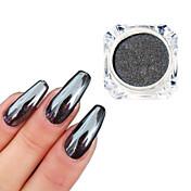 0.5g / bottle black mirror effect decoration 3d nail art glitter