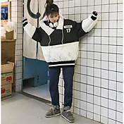 コート パッド入り レディース,カジュアル/普段着 カラーブロック コットン コットン-シンプル 長袖
