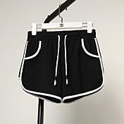 Mujer Tiro Alto Perneras anchas Shorts Pantalones - A Rayas