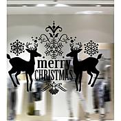 クリスマス カートゥン 文字 ウォールステッカー プレーン・ウォールステッカー 飾りウォールステッカー,ビニール 材料 ホームデコレーション ウォールステッカー・壁用シール