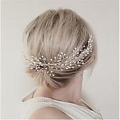 imitación perla aleación pelo peine casco estilo femenino clásico
