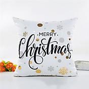 1 個 その他 枕カバー,ワード/文章 スタイル クリスマス