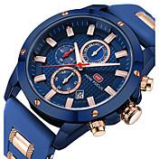 Hombre Reloj Deportivo / Reloj de Pulsera Japonés Calendario / Cronómetro / Noctilucente Silicona Banda Lujo / Casual / Moda Negro / Azul