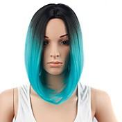 Mujer Pelucas sintéticas Corto Azul Pelo Ombre Peluca de fiesta Pelucas para Disfraz