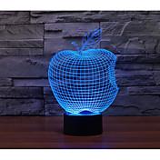 1 juego Luz nocturna 3D USB Batería Color variable Decorativa