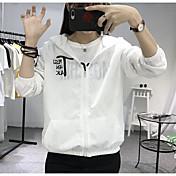 レディース カジュアル/普段着 秋 ジャケット,シンプル フード付き レタード レギュラー その他 長袖