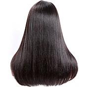 Mujer Pelucas de Cabello Natural Brasileño Remy Frontal sin Pegamento 130% 150% 180% Densidad Con mechones Liso Encrespado Peluca Negro