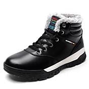 Hombre Zapatos PU Otoño Invierno Confort Botas Para Casual Negro Marrón Azul