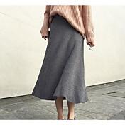Mujer Midi Faldas,Columpio