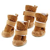 Encantadores Zapatos de Velcro para Perros - Colores Surtidos, XS-XL, 4 Unidades