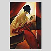 Pintada a mano Personas Modern Un Panel Lienzos Pintura al óleo pintada a colgar For Decoración hogareña