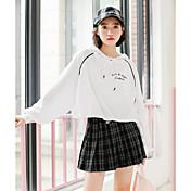 Mujer Simple Colegio Mini Faldas Otoño Estampado