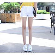 Mujer Activo Tiro Alto > 75% Vaqueros Pantalones,Vaqueros Un Color Elegante