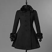 甘ロリータ プリンセス 女性用 成人 女の子 コート コスプレ ブラック 長袖