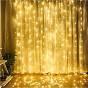 Al aire libre 4.5 mx 3 m led cortina guirnalda luz de la secuencia de hadas guirnalda impermeable para la boda decoración del hogar