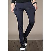 Hombre Simple Tiro Medio Microelástico Pantalones Pantalones,Pantalones Un Color