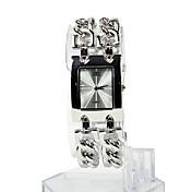 Mujer Reloj de Moda Reloj Pulsera Cuarzo Acero Inoxidable Banda Plata