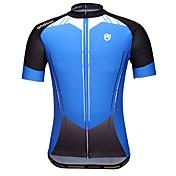 Maillot de Ciclismo Hombre Manga Corta Bicicleta Camiseta/Maillot Ropa para Ciclismo Secado rápido Transpirabilidad Eslático Geométrico