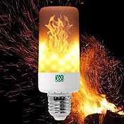 YWXLIGHT® 6W 550-600 lm E14 E27 E12 B22 Bombillas LED de Mazorca T 99 leds SMD 3528 Regulable Llama parpadeante Decorativa Blanco Cálido