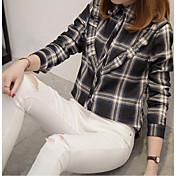 レディース デイリーウェア シャツ,ストリートファッション モダンシティ シャツカラー ストライプ コットン 長袖