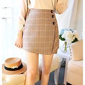 Mujer Uso Diario Mini Faldas, Lápices Poliéster Otoño Geométrico
