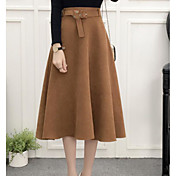 Mujer Falda Faldas - Básico, Color sólido