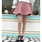 Mujer Bonito Chic de Calle Colegio Casual/Diario Mini Faldas Otoño Estampado