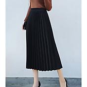 Mujer Básico Columpio Faldas Un Color