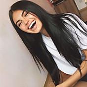 Cabello Virgen Encaje Frontal Peluca Cabello Brasileño Recto 130% Densidad Con Baby Hair Sin procesar Para mujeres de color Larga Mujer