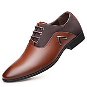 Hombre Zapatos Oxford Primavera Otoño Confort Oxfords para Fiesta y Noche Negro Marrón Claro Morrón Oscuro
