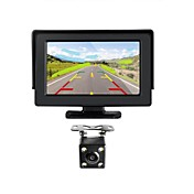 monitor de pulgada renepai® 4.3 + inalámbrico 170 ° hd retrovisor del coche de la cámara gran angular + cámara CMOS impermeable de alta