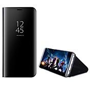 ケース 用途 Huawei Mate 10 pro Mate 10 lite スタンド付き ミラー フリップ フルボディー 純色 ハード PC のために Mate 10 Mate 10 pro Mate 10 lite Mate 9 Mate 9 Pro