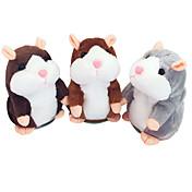 Hablar Hamster Ratón Hámster juguetes de peluche Animales de peluche y de felpa Bonito Hablando Grabador de sonido Dibujos Especial