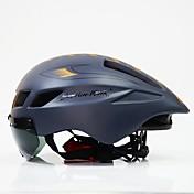Adultos Casco de bicicleta Casco Aerodinámico 6 Ventoleras CE Resistente a Golpes, Peso ligero ESP+PC Deportes Ciclismo / Bicicleta / Bicicleta - Negro / Blanco / Negro / Rojo / Negro + oro