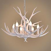 6-luz Lámparas Colgantes Lámpara Torchiere de Pie - Mini Estilo, 110-120V / 220-240V Bombilla no incluida / 5-10㎡ / FCC
