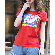 camiseta de mujer - cuello redondo geométrico