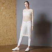 Mujer Activo Pullover - Un Color, Ahuecado / rasgado