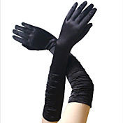 Audrey Hepburn Δεκαετία του 1950 Στολές Γυναικεία Γάντια Μακριά γάντια  Κόκκινο   Ροζ   Χρυσαφί Πεπαλαιωμένο d960b504371