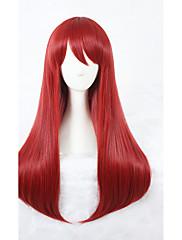 Kvinder Syntetiske parykker Lågløs Medium Rød Cosplay Paryk kostume Parykker