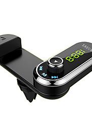 f1のブルートゥースの車のFMトランスミッターのハンズフリーカーキットエアーベントホンホルダーmp3プレーヤーのiphoneのAUXオーディオレシーバー