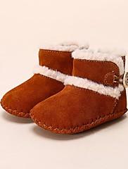 Bebê sapatos Pele Inverno Primeiros Passos Mocassins e Slip-Ons Para Casual Roxo Rosa claro Camel